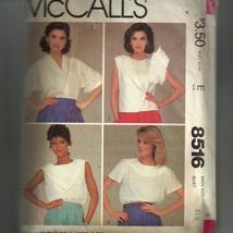 McCall's 8516 Misses' Tops Size 8 uncut - $5.50