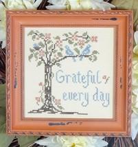 Grateful Every Day cross stitch chart My Big Toe Designs - $8.00