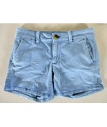 AMERICAN EAGLE OUTFITTERS womens Sz 2 W28 light blue CHINO stretch short... - $16.99