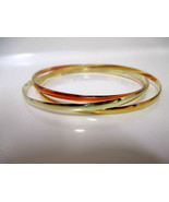 20 K YELLOW SOLID GOLD HANDMADE ROSE WHITE RHODIUM COLOR BANGLE WOMEN'S ... - $1,801.79+