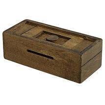 Bits and Pieces - Stash Your Cash - Secret Puzzle Box Brainteaser - Wood... - $19.78