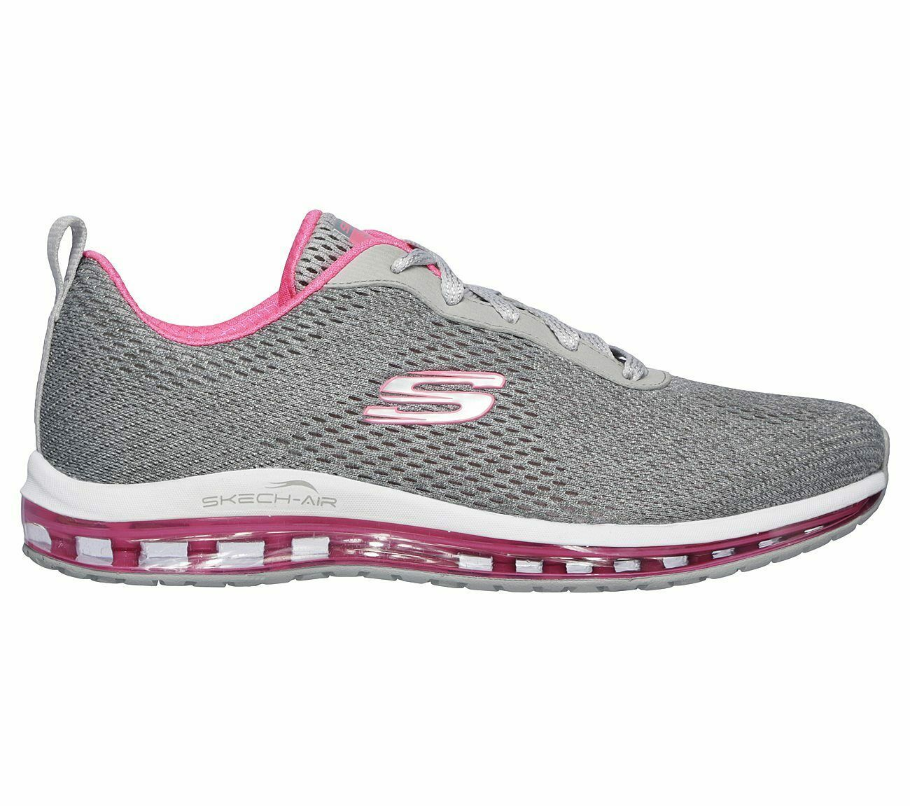 Skechers Shoes Women Gray Pink Memory Foam Sport Air Cushion Mesh Comfort 12644 image 2