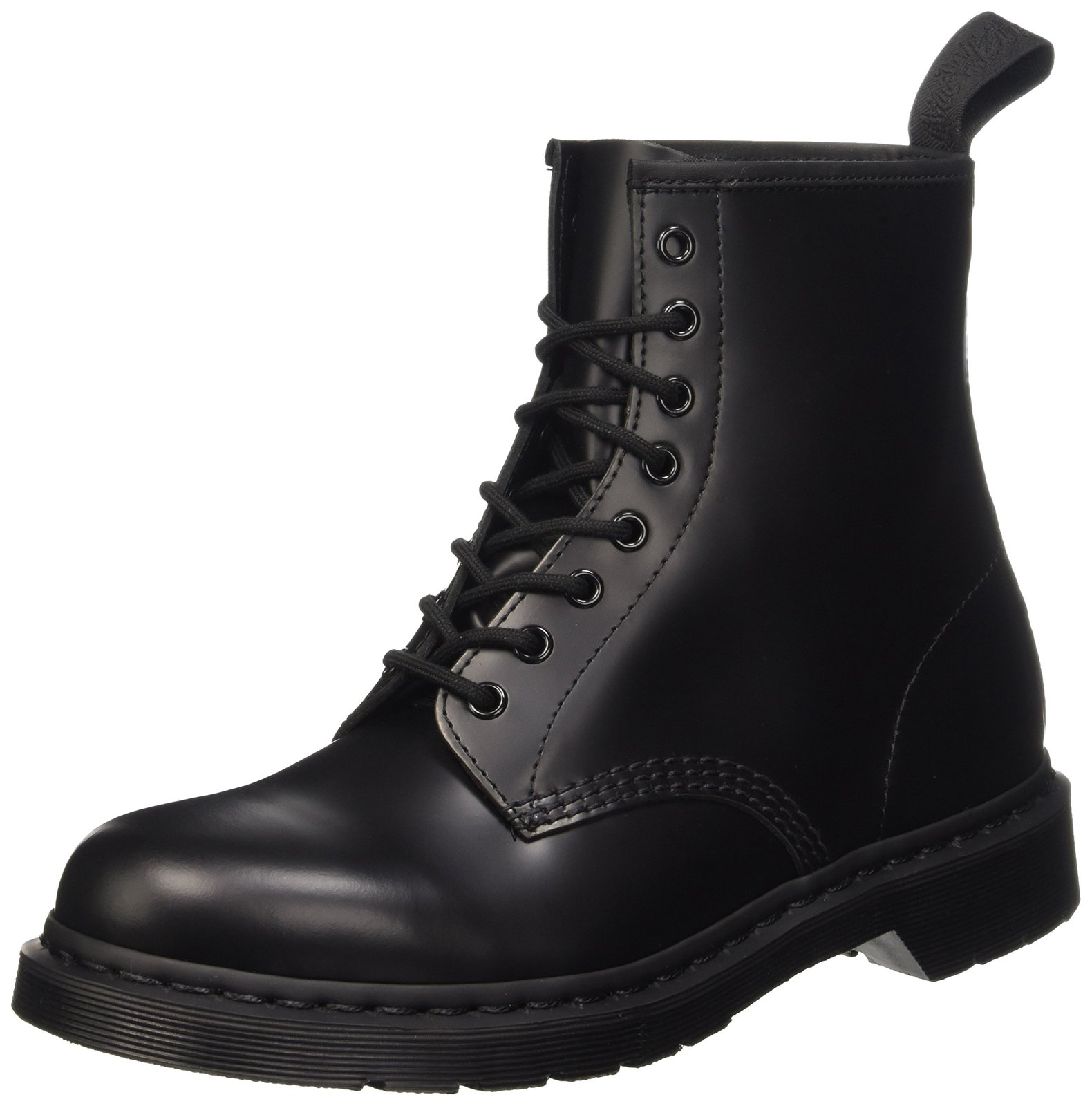 Dr. Martens Unisex 1460 8-Tie Lace-Up Boot,Black Smooth,UK 9 (US  10,  11) M US