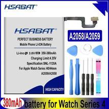 HSABAT 380mAh 350mAh A2058 A2059 Battery for Apple Watch Series 4 Gen S4 GPS 40m - $20.02