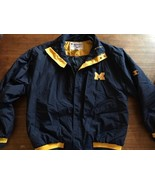 Champion Jacket Michigan Wolverines Adult M Full Zip Mint Fall Lined VTG - $27.55