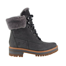 Timberland Courmayeur Valley 6-Inch Shearling Women's Boot Grey Nubuck TB0A255A - $162.00
