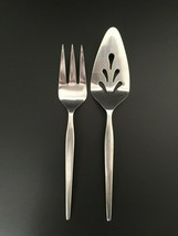 "Ekco Eterna Prince Stainless 8⅞"" Cold Meat Serving Fork + 9¾"" Pierced Pie Server - $19.95"