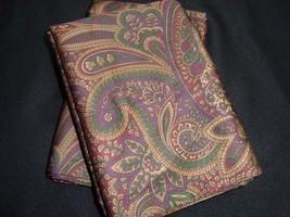 2 King Pillowcases Set Two New Ralph Lauren Bohemian Paisley Venetian Set Pair - $84.79