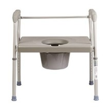 Steel Commode Seat Chair Safety Medical Bathroom Potty Portable Toilet B... - $117.49