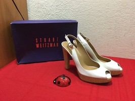 Stuart Weitzman Womens Patent Leather White Platform Heels Stilleto Size 8 M - $40.00