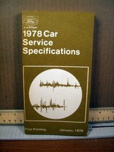 1978 Car Service Specification Ford FPS 365-323-78 A - $8.99