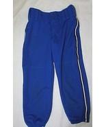 Boys sz 24-26 Teamwork baseball softball pants blue white black piping - $6.92