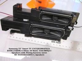 """Samsung 55"""" UN55J6200AFXZA BN96-21669K 6 Ohms 10 Watts A16C08WJ11 Speakers - $18.95"""