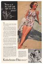 Kodak Kodachrome Film '30s Bathing Beauty Swimsuit Home Movies Print Ad ... - $14.50