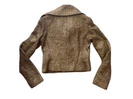 Brown Gold Ralph Lauren Collection Women Blazer Coat Jacket Sz 4 Made in USA image 6