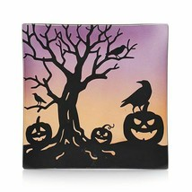☆☆YANKEE CANDLE ALL HALLOW'S EVE GLASS CANDLE TRAY☆☆HALLOWEEN - $18.76