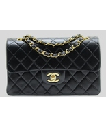 """CHANEL SMALL Black LAMBSKIN Leather 9"""" CLASSIC ... - $3,129.00"""