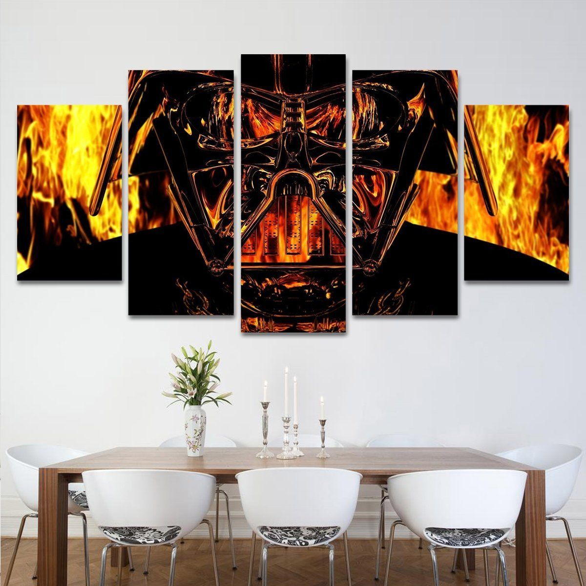 Scarface Tony Montana Gangster Canvas Five Piece Large Framed Wall Print  Home 896501b21fe21