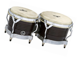 Latin Percussion M201-BKWC LP Matador Wood Bongos - Black Wood/Chrome - $197.74