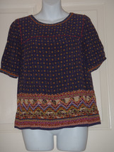Size 0  Anthropologie HOLDING HORSES Embroidered Minas Top Blouse - $46.50