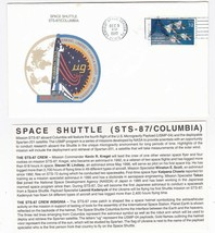 STS-87 COLUMBIA KENNEDY SPACE CENTER FL DECEMBER 5 1997 WITH INSERT CARD - $1.78