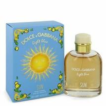 Light Blue Sun Eau De Toilette Spray 4.2 Oz For Men  - $84.72