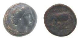 360-325 BC Larissa Thessalay AE17mm Coin VF Nymph Horse Ancient Greece G... - $114.31