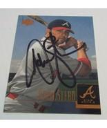 Adam Stern Signed 2001 Upper Deck Card Autographed Atlanta Braves - $3.99
