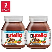 Nutella Hazlenut Spread Value Pack of 2 x 35.2oz / 1kg Jars Total 70.4 o... - $43.53