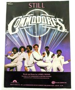 Still by The Commodores 1979 VTG Sheet Music Lionel Richie Motown Records - $18.37