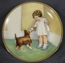 The Reward Child's Best Friend Collector Plate Bessie Pease Gutmann Pupp... - $39.95