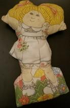 Vintage 1983 Appalachian Artwork Cabbage Patch Kid Pillow-Blonde Girl-Flowers - $15.79