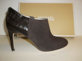 Michael Kors Size 9 M Sammy Coffee Brown Suede Ankle Boots New Womens Shoes - $147.51