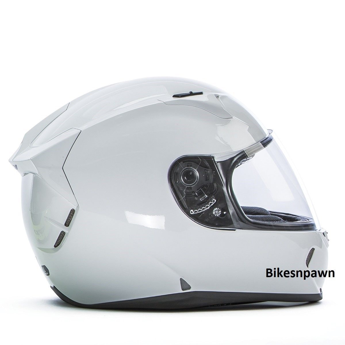 New L Fly Racing Revolt FS Motorcycle Helmet Solid Gloss White DOT & Snell