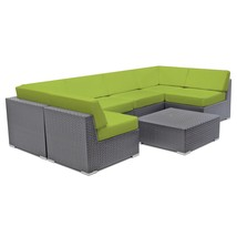 Patio Sectional Wicker Sofa Set Aluminum Lounge Patio Couch Outdoor Furn... - $1,178.52