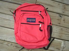 Jansport nylon backpack school day bookbag light red youth girls boys or... - $10.00