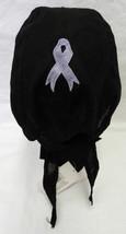 Chemo Cap Durag Hat Epilepsy Hodgkins Disease Lavender Ribbon Black Wrap... - $12.71