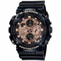 New Casio G-Shock Analog-Digital Black Resin Strap Mens Watch GA140GB-1A2 - $94.99
