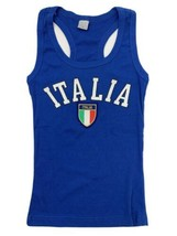 Italia Crest Blu Serbatoio Top TAGLIA S - $10.88