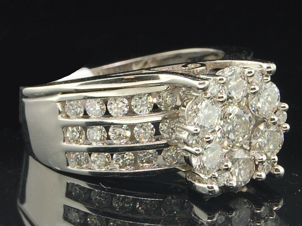 Women's Engagement Anniversary Ring 14k White Gold Over 925 Silver Round Cut CZ