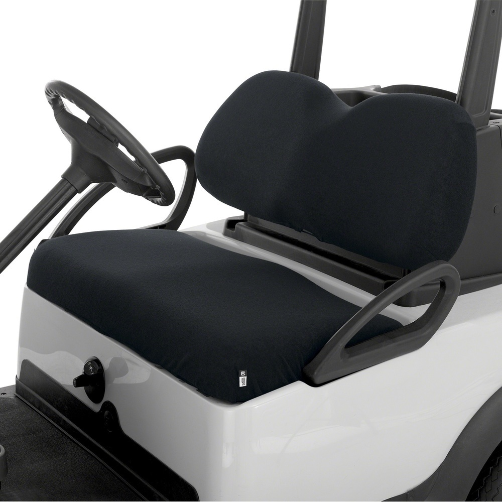 Classic Terry Cloth Golf Cart Seat Saver Black for sale  USA