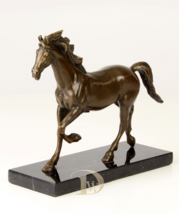 Antique Home Decor Bronze Sculpture shows the Horse signed * Free Air Shipping  - $189.00