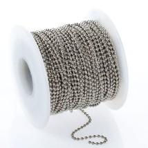100 Feet 2.4mm STEEL BALL Chain ~ BULK + 100 Connectors ~ #3 Size Chain NPS - $22.76
