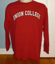 Union College Schenectady NY Red Men's Long Sleeve Shirt Large L - $19.80