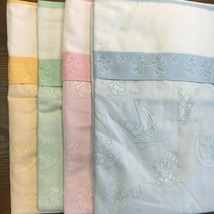 """Playtime Bears Quilted Baby Blanket 31"""" x 42"""" 14 count Cross Stitch 4 Co... - $29.95"""
