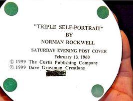 Figurine of a Triple self-portrait by Norman RockwellAA18-1355 Vintage image 5