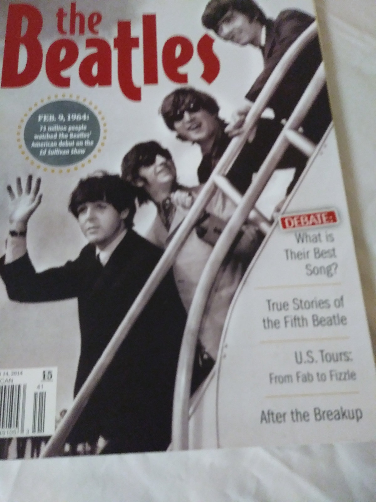 The Beatles Celebrating 50 Years of Beatlemania in America 2014 issue look like