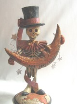 Pam Schifferl  SKELETON Figure Halloween Day of the Dead  Moon reversible - £51.12 GBP