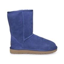 UGG CLASSIC SHORT II SKY BLUE SUEDE SHEEPSKIN WOMENS BOOTS SIZE US 6 NEW - $135.99