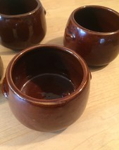 Vintage 60s West Bend stoneware Bean Bowls - set of 4 image 3